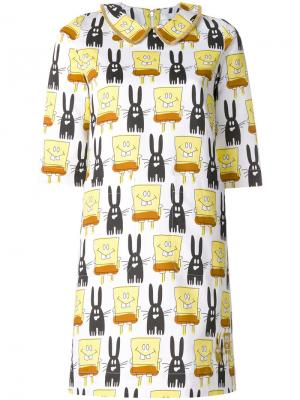 Платье с принтом Spongebob Peter Jensen. Цвет: многоцветный