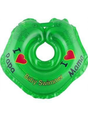 Круг зеленый Baby Swimmer. Цвет: зеленый