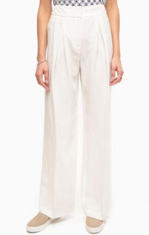Широкие белые брюки Stefanel. Цвет: белый