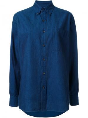 Классическая рубашка Enföld. Цвет: синий
