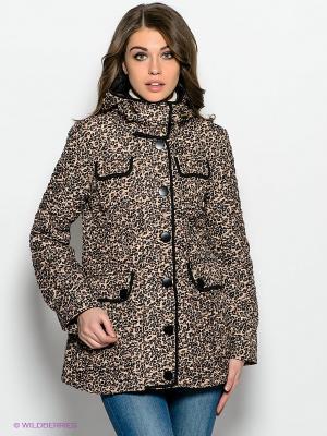 Куртка Ada Gatti. Цвет: светло-бежевый, черный, светло-коричневый