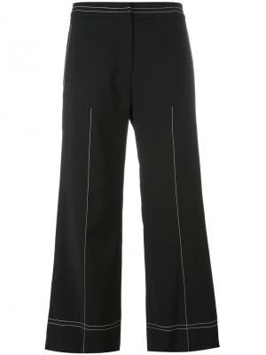 Широкие укороченные брюки Each X Other. Цвет: чёрный