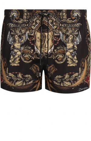 Плавки-шорты с принтом Dolce & Gabbana. Цвет: черный