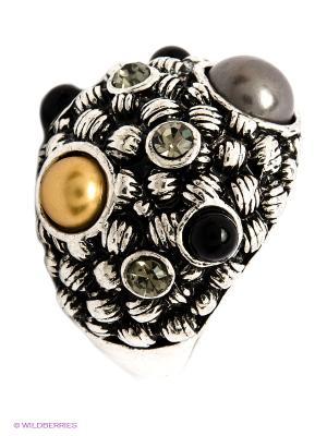 Кольцо Krikos. Цвет: серебристый, бежевый, черный, серый