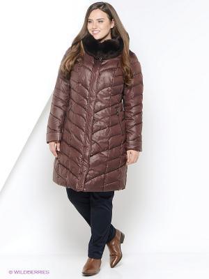 Пальто Vlasta. Цвет: коричневый