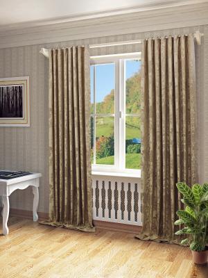Готовая штора SANPA HOME COLLECTION. Цвет: светло-коричневый