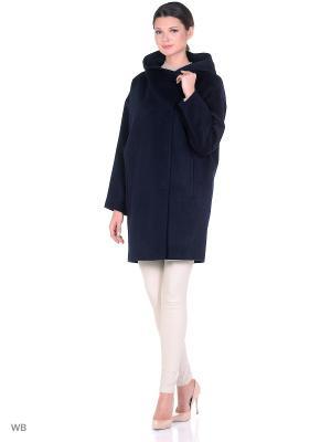 Пальто SHARTREZ. Цвет: темно-синий