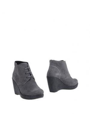 Полусапоги и высокие ботинки BAGE. Цвет: свинцово-серый