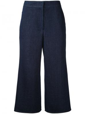 Укороченные широкие брюки Goen.J. Цвет: синий