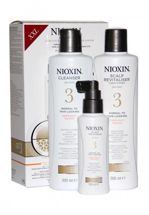 Набор Система 3 Nioxin. Цвет: белый