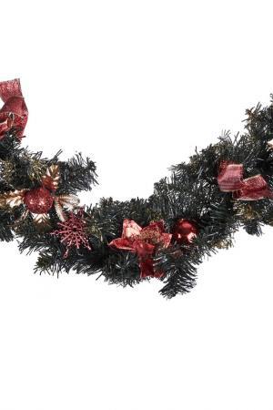 Новогодняя гирлянда с цветами DUE ESSE CHRISTMAS. Цвет: зеленый