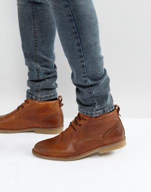 River Island Коричневые кожаные ботинки с подкладкой из искусственного меха I. Цвет: рыжий