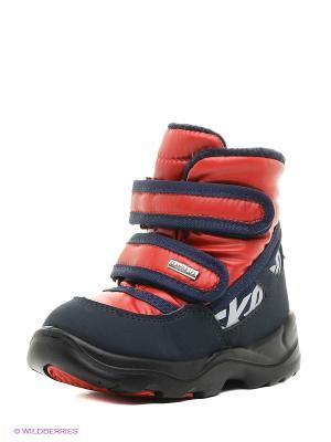 Ботинки Skandia. Цвет: темно-синий, красный