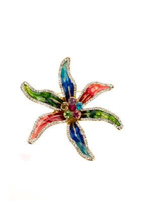 Брошь Bijoux Land. Цвет: золотистый, зеленый, розовый, синий
