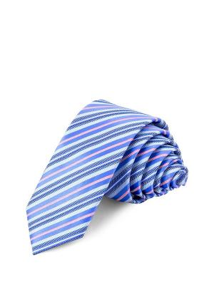 Галстук CASINO. Цвет: синий, голубой, персиковый