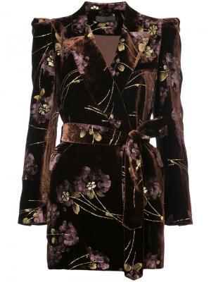 Embroidered velvet jacket Co. Цвет: коричневый