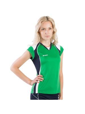Женская волейбольная футболка Energy 2K. Цвет: зеленый, белый, темно-синий