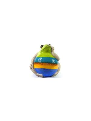 Садовая фигура - Лягушонок Marquis. Цвет: голубой, зеленый, синий