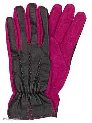 Перчатки женские Marco Bonne`. Цвет: черный, фуксия