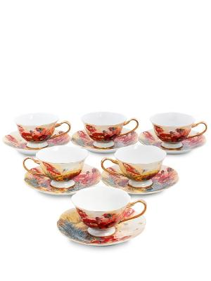 Чайный н-р на 6 перс Дольче Вита  (Pavone) Pavone. Цвет: розовый