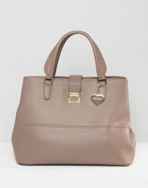 Marc B Большая сумка-тоут Chelsy. Цвет: серый