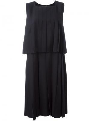 Многослойное плиссированное платье Comme Des Garçons. Цвет: синий