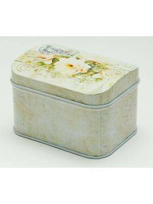 Коробка для безделушек и мелочей Чайная роза Magic Home. Цвет: белый