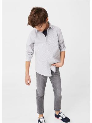 Рубашка - DAMIAN8 Mango kids. Цвет: серый