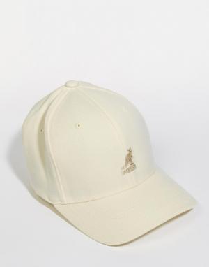 Kangol Шерстяная бейсболка. Цвет: белый