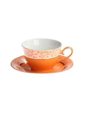 Набор чайный 2 предмета 200 мл. PATRICIA. Цвет: оранжевый