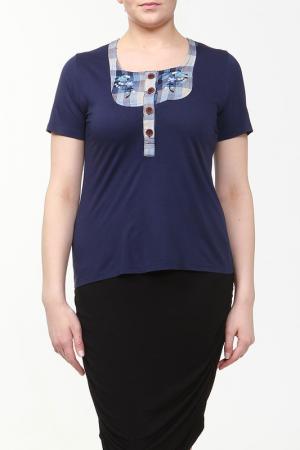 Блузка Ikiler. Цвет: темно-синий