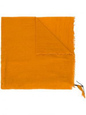 Шарф с плетеной деталью и заклепками Htc Hollywood Trading Company. Цвет: жёлтый и оранжевый