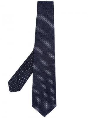 Жаккардовый галстук Kiton. Цвет: синий