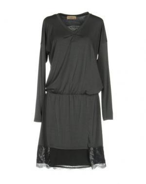 Платье до колена JUST FOR YOU. Цвет: серый