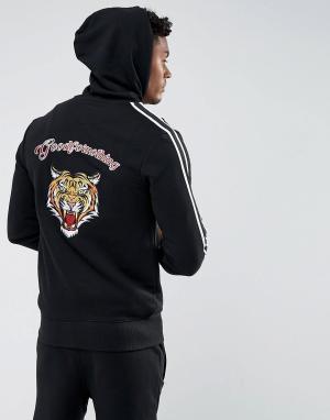 Good For Nothing Худи черного цвета с вышитым тигром на спине. Цвет: черный