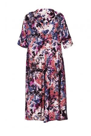 Платье с авангардным принтом 190619 Cyrille Gassiline. Цвет: разноцветный