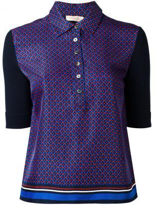 Printed polo shirt Tory Burch. Цвет: синий
