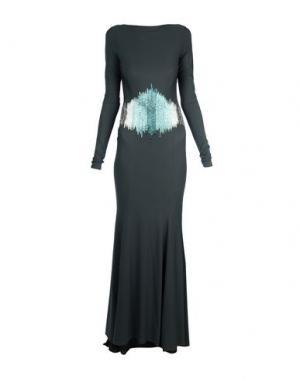 Длинное платье FRANCESCA PICCINI. Цвет: стальной серый