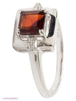 Ювелирное кольцо Art Silver. Цвет: серебристый, бордовый