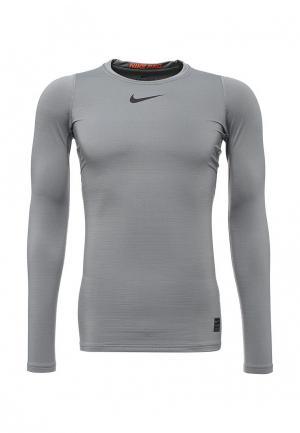 Лонгслив компрессионный Nike. Цвет: серый