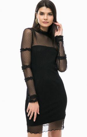 Черное платье со съемной подкладкой Liu Jo. Цвет: черный