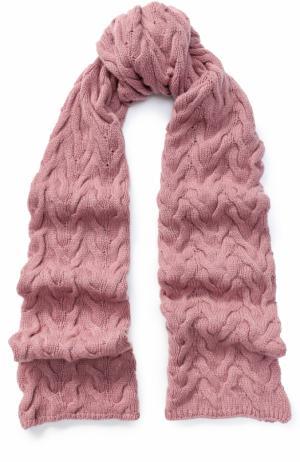 Вязаный кашемировый шарф Kashja` Cashmere. Цвет: розовый