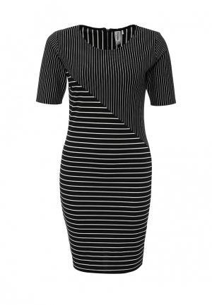 Платье Troll. Цвет: черно-белый