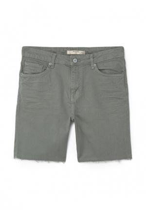 Шорты джинсовые Mango Man. Цвет: серый
