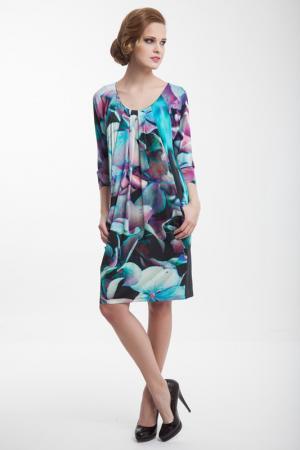 Платье Barbara Schwarzer. Цвет: мультицвет