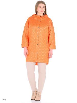 Пальто Socrat. Цвет: оранжевый