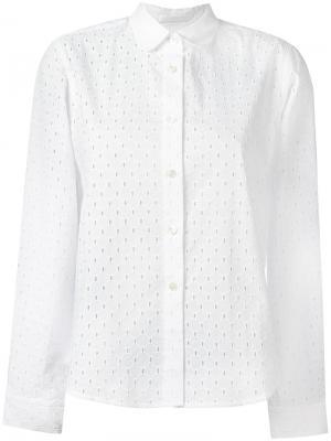 Ажурная рубашка Peter Jensen. Цвет: белый