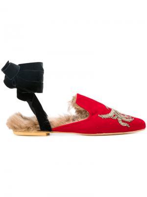 Слиперы Dance Sleep Gia Couture. Цвет: красный