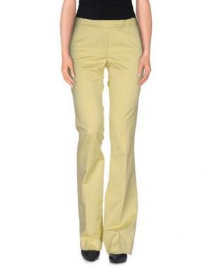 Повседневные брюки TERESA DAINELLI. Цвет: желтый