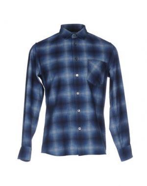 Джинсовая рубашка BLUE JAPAN. Цвет: синий